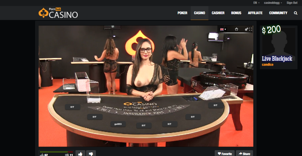 pornhub 3 Blackjack